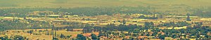 Newcastle, KwaZulu-Natal - Modern day Newcastle from the suburb of Signal Hill