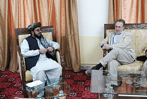 Paktika Province - Governor Mohibullah Samim during a 2010 meeting with Deputy U.S. Ambassador to Afghanistan, Earl Anthony Wayne