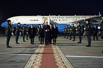 Natalia Gherman - Gherman escorting John Kerry upon his arrival in Moldova in 2013.