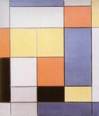 Bojagi - Work by Piet Mondrian, whose use of squares and color has been compared to bojagi.