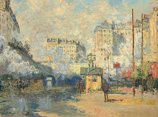Monet Extérieur de la gare Saint-Lazare, effet de soleil