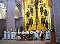 Mons. Pedro Pablo Elizondo y los sacerdotes de Quintana Roo.JPG