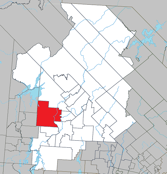 Location within Antoine-Labelle RCM.