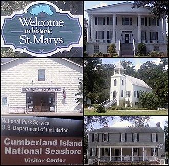 St. Marys, Georgia - Image: Montage St Marys GA