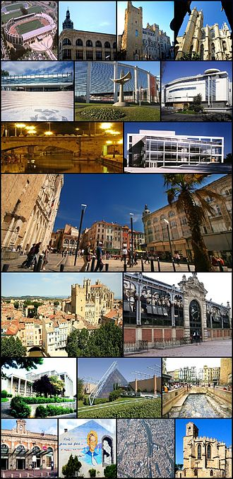 Narbonne - Image: Montage photo narbonne