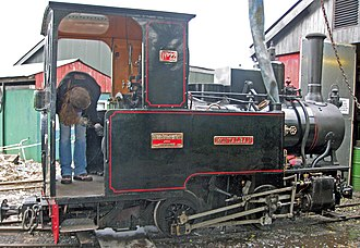 West Lancashire Light Railway - Montalban built in 1913 being serviced and watered