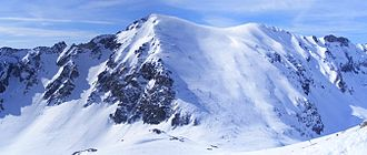Ligurian Alps - Monte Antoroto in winter from Monte Grosso