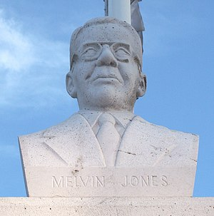 Lions Clubs International - Bust of Melvin Jones in Madrid, Spain.