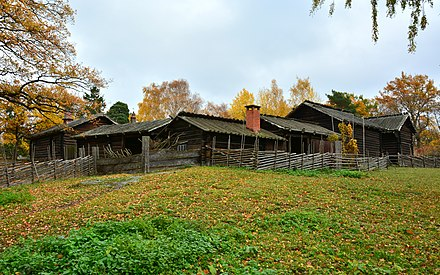 Moragarden, one of many historical homesteads at the Skansen open-air museum. Moragarden.jpg