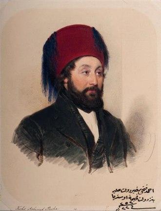 Ottoman clothing - Image: Moritz michael daffinger achmet fethi pacha