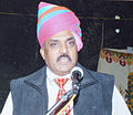 Mr. Madhav S. Parihar (son of Late Justice Shri Kan Singh ji) addressing about society should promote women's empowerment. — at Circuit House, Jodhpur, (Rajasthan) India.JPG