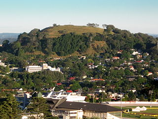 Mount Eden mountain and suburb of Auckland