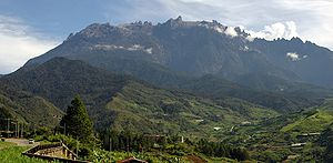 Mount Kinabalu, the highest mountain in Malaysia.