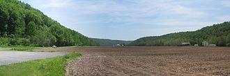 Davidson Township, Sullivan County, Pennsylvania - Image: Muncy Creek Valley Panorama