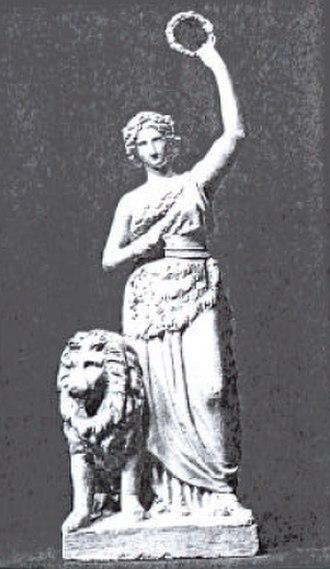 Bavaria statue - Schwanthaler's plaster model of 1840