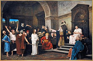Pontius Pilate - Christ before Pilate, Mihály Munkácsy, 1881