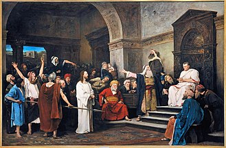 Hungarian National Gallery - Christ in front of Pilate, Mihály Munkácsy, 1881