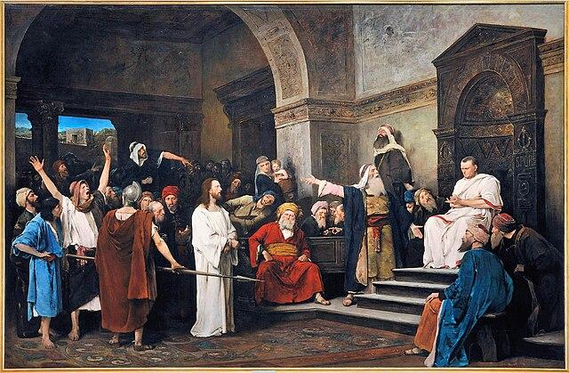 Христос перед Пилатом, Михай Мункачи, 1881 год