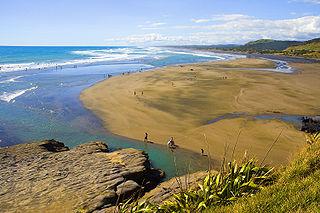 Muriwai beach community near Auckland, New Zealand