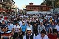 Muslims perform the Eid Al-Adha prayer at Eyup Sultan Mosque 2019-08-11 06.jpg