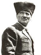 Mustafa Kemal Atatürk, a Turkish national hero