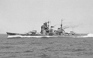 Myōkō-class cruiser - Image: Myōkō trials 1941