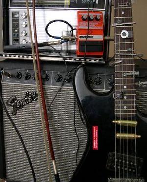Prepared guitar - A prepared guitar