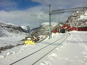 Flåm Line - The Flåm Line starts at Myrdal Station, where it connects with the Bergen Line.