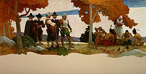 N.C. Wyeth - Thanksgiving with Indians.jpg