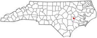 Kinston, North Carolina - Image: NC Map doton Kinston