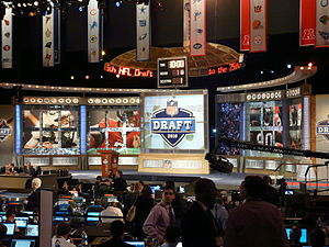 National Football League Draft - The set for the 2010 NFL Draft at Radio City Music Hall in New York City