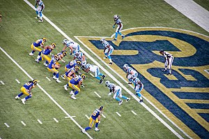 2010 NFL season - St. Louis at home to Carolina in week 8 of the season, on October 31, 2010