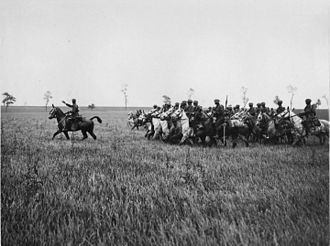 5th Cavalry Brigade (United Kingdom) - 2nd Dragoons (Royal Scots Greys) training in France during the First World War.