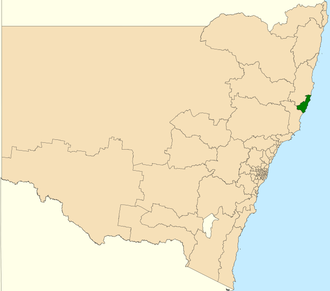 Electoral district of Port Macquarie - Location in New South Wales