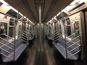 R143 (New York City Subway car) - Image: NYC Subway R143 8283 Interior
