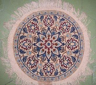 Nain rug - A round Nain rug.