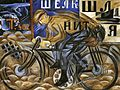 Natalia Goncharova, 1913, The Cyclist, oil on canvas, 78 x 105 cm, The Russian Museum, St.Petersburg.jpg