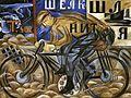 Natalia Goncharova, 1913, The Cyclist, oil on canvas, 78 x 105 cm, The Russian Museum, St.Petersburg.jpg