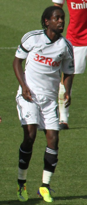 Nathan Dyer - Dyer playing for Swansea City in 2011