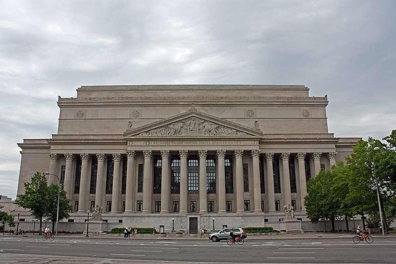 File:National Archives Building north side, Washington, D.C. 2011.jpg