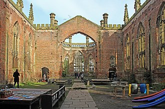 Church of St Luke, Liverpool - View east along the nave