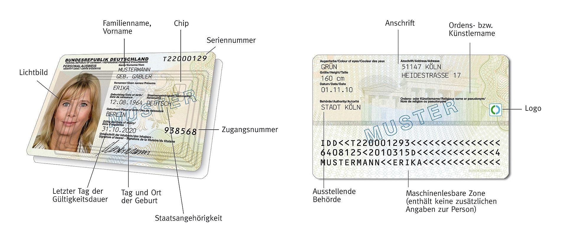 ¿Cuánto mide Jorge Cadaval? (Los Morancos) - Altura 1920px-Neuer_deutscher_Personalausweis_ab_1._November_2010%2C_Vorder-_und_R%C3%BCckseite_%28Muster%29