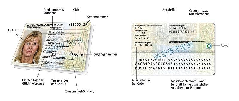 Nationale Identitätsnummer Deutschland