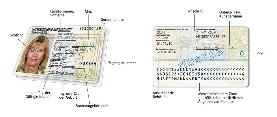 Personalausweis Deutschland Wikiwand