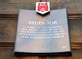 Neues Tor Hannover Schlossstraße Stadttafel 050 Es stand seit 1782 gegenüber dem Archiv.jpg