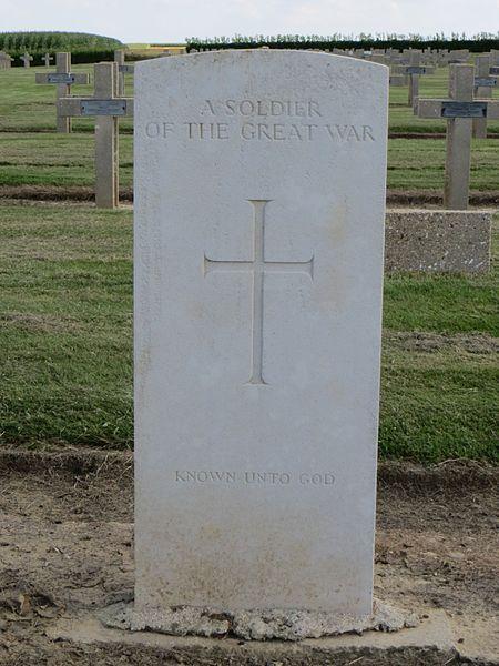 Tombe de soldat inconnu britannique