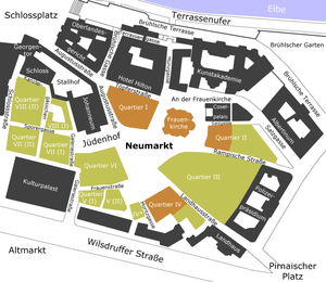 Neumarkt (Dresden) - The quarters of Dresden's Neumarkt area.