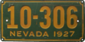 Nevada license plate, 1927.png