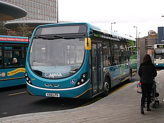 Arriva Southern Counties - Arriva Medway Towns Wright StreetLite at Chatham Waterfront bus station in January 2012