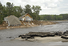 Dell Creek Breach of Lake Delton